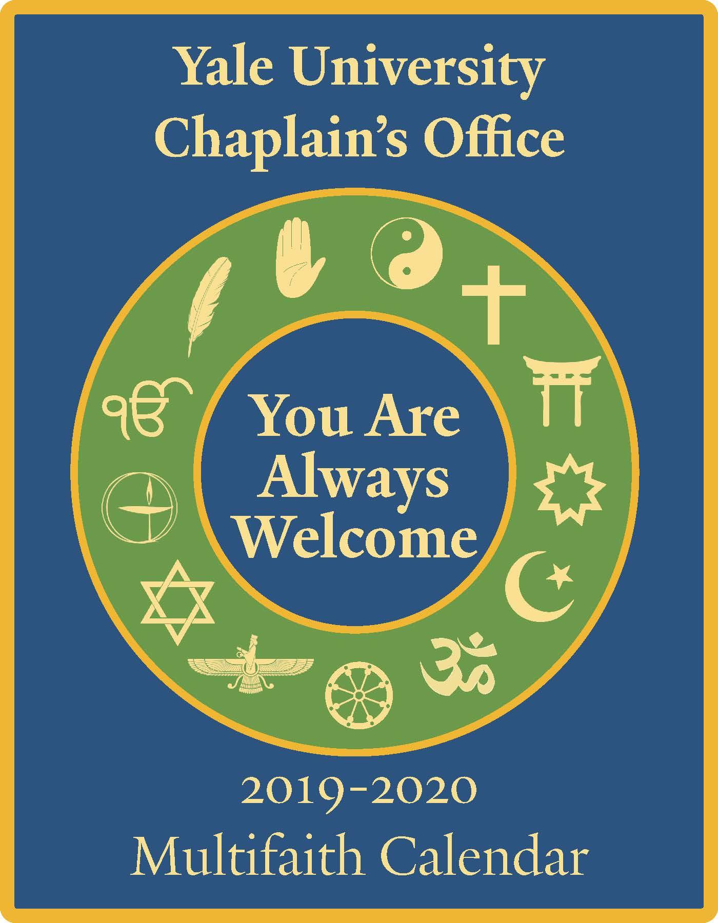 Yale Calendar 2020 Multifaith Calendar 2019 2020 | Chaplain's Office